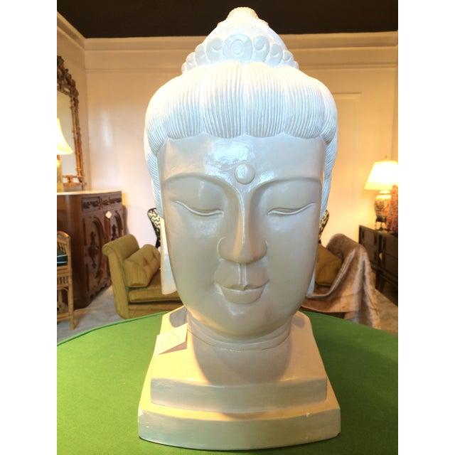 Large Plaster Buddah Bust - Image 4 of 4