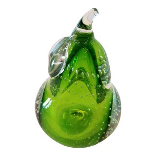 Murano Glass Pear For Sale