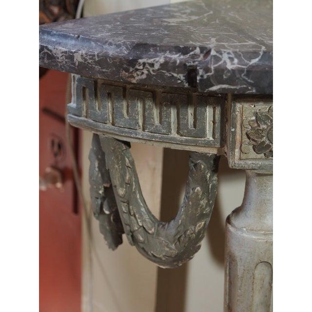 Louis XVI Style Demi Lune Console For Sale - Image 4 of 8