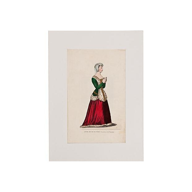 19th C. French Hand-Tinted Lithograph - Image 2 of 2