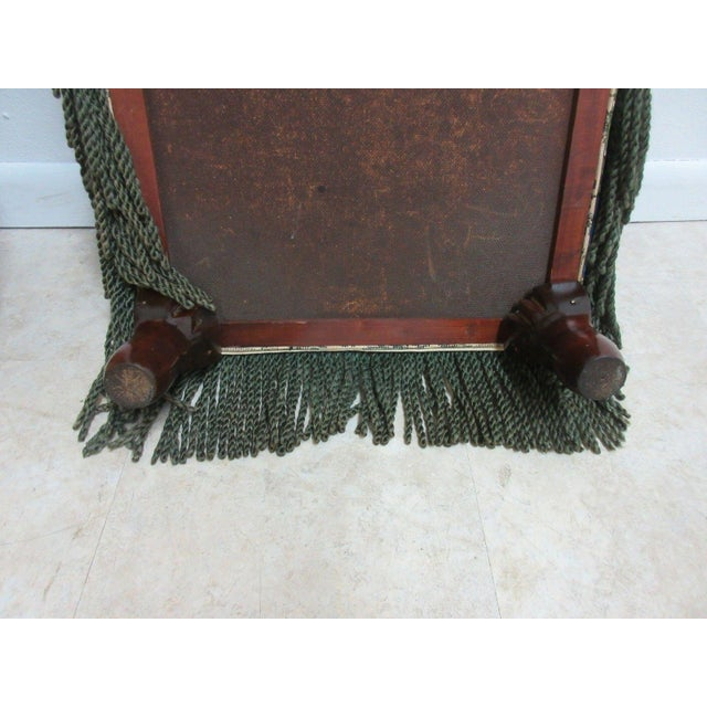 Green Antique Storage Footstool Ottoman For Sale - Image 8 of 11