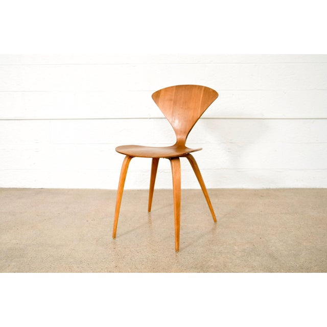 Danish Modern Mid Century Norman Cherner Molded Plywood Side Chair For Sale - Image 3 of 11