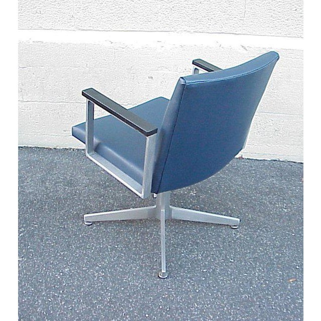 Wonderful 1940-50s Goodform aluminum armchair. This can be used in home or office. It does not swivel nor was it...