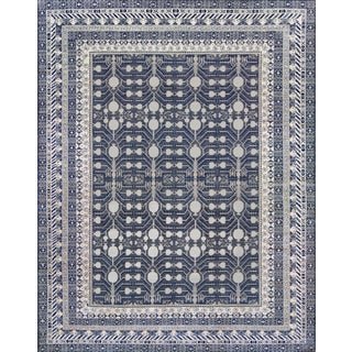 Mansour Modern Khotan Style Handwoven Wool Rug For Sale