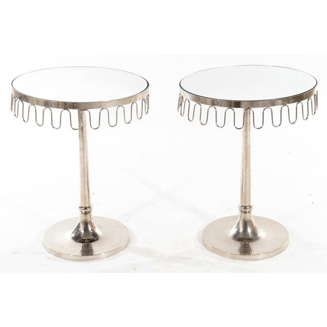 Mid 20th Century A Pair of Mirrored Top Side Tables For Sale - Image 5 of 5