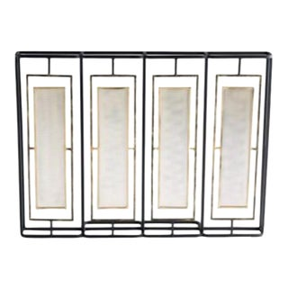 Mid Century Modern Fireplace Screen For Sale