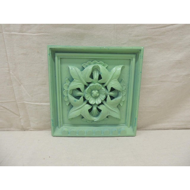 Early 21st Century Green Square Garden Decorative Wall Plaque. For Sale - Image 5 of 5