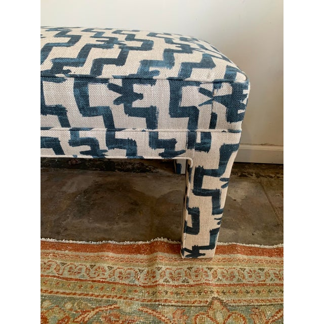 1970s 1970s Vintage Parsons Style Upholstered Bench For Sale - Image 5 of 6