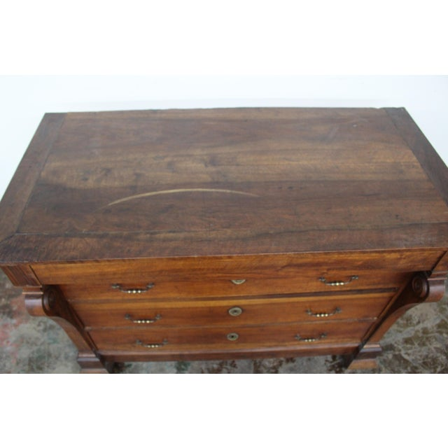 19th Century French Three Drawer Commode For Sale - Image 4 of 12