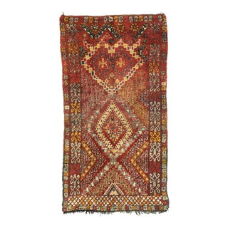 Vintage Berber Moroccan Rug With Mid-Century Modern Style - 06'02 X 011'04 For Sale