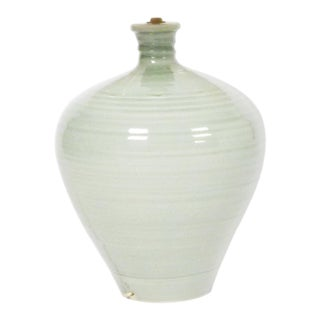 Studio Lamp With Celadon Glaze For Sale