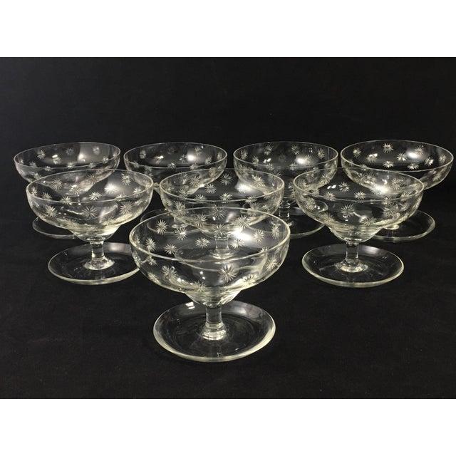 Crystal Vintage Cut Crystal Shrimp Cocktail Glasses - Set of 8 For Sale - Image 7 of 7