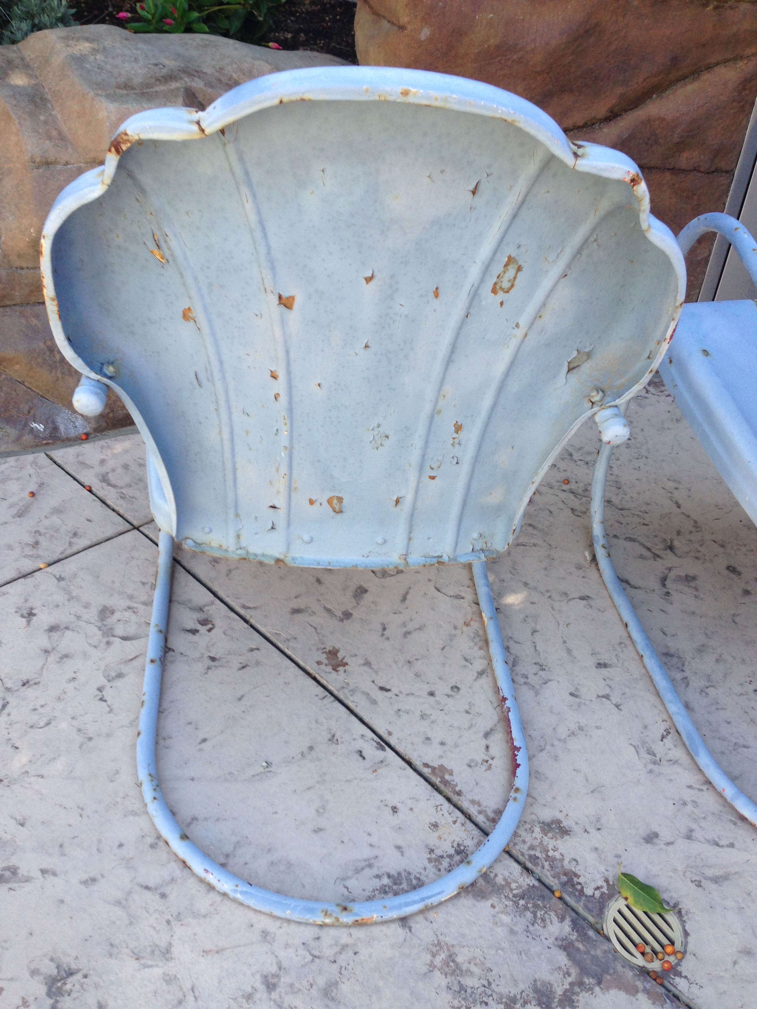 Genial Shellback Metal Motel Chairs   A Pair For Sale   Image 7 Of 9
