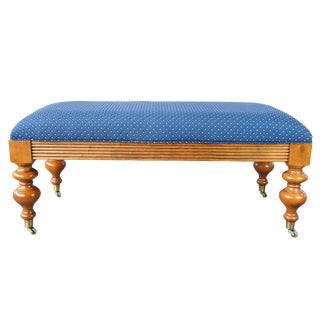 Ethan Allen Traditional French Inspired Maple Bench For Sale