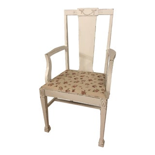 Vintage French Barbola Farmhouse Chair For Sale
