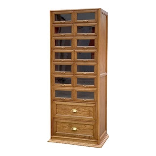 English Wooden Haberdashery Cabinet For Sale