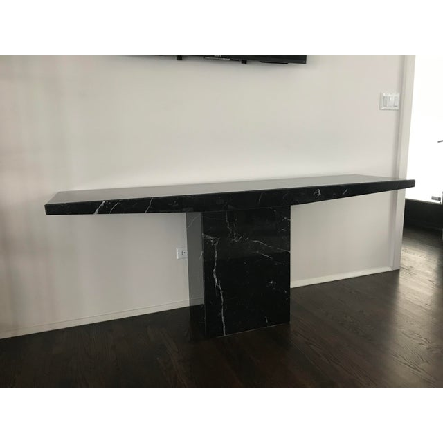 Stone 1960s Stone International for Ello Black Marble Pedestal Console For Sale - Image 7 of 10