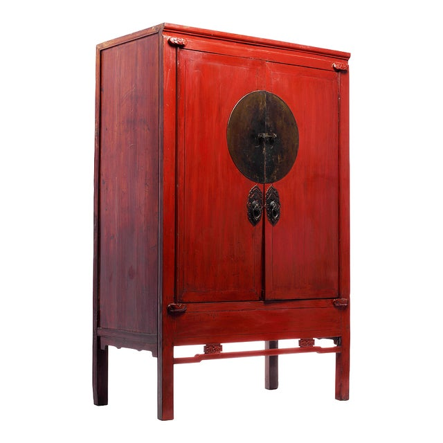 Antique Chinese Wedding Cabinet - Image 2 of 4