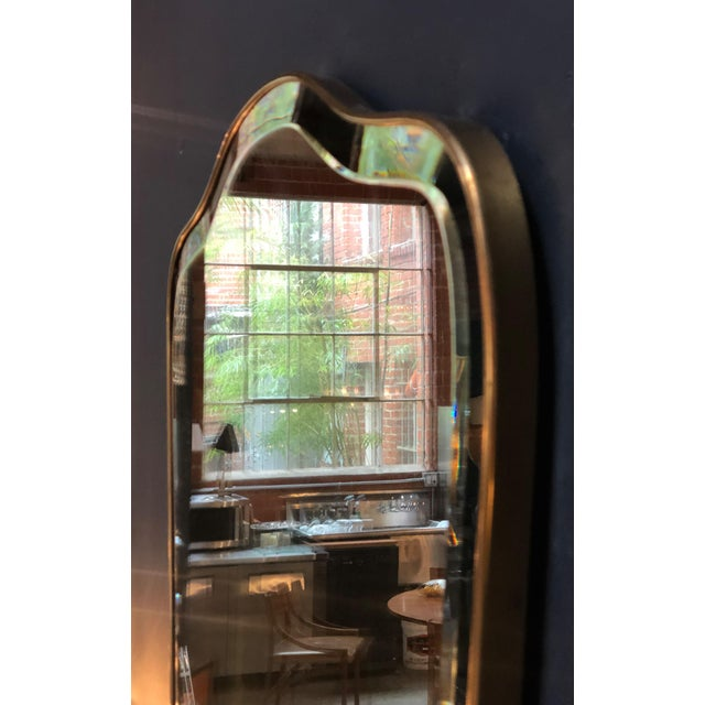 1950s Giant Midcentury Italian Molded Wall Mirror, 1950s For Sale - Image 5 of 8