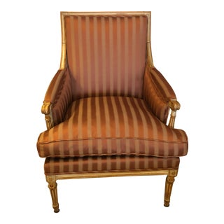 19th Century Louis XVI Bergère Club Chair For Sale