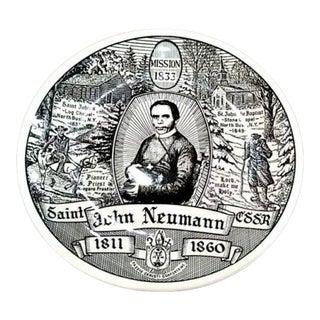Vintage Mid Century Kreisshaus St John Neumann Ceramic Wall Plate For Sale