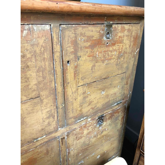 1880s English Pigeon Hole Cabinet With Drop-Down Doors For Sale - Image 4 of 9