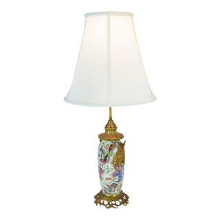 Multi-Color Napoleon III Bronze Details Lamp For Sale