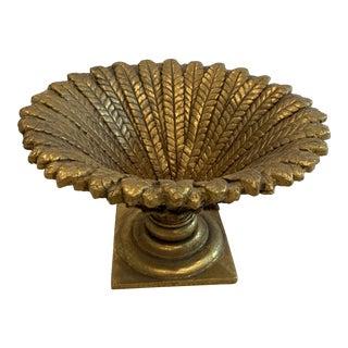 Faux Gold Gilt Leaf Centerpiece Bowl For Sale