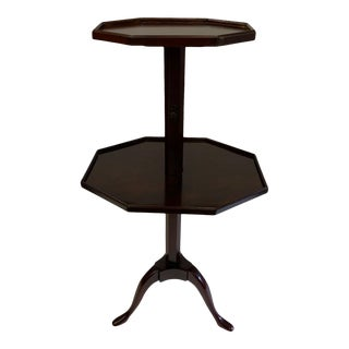 English Adjustable 2 Tier Side Table For Sale