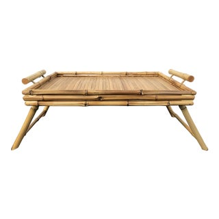 1970s Bamboo Bed Tray Table For Sale