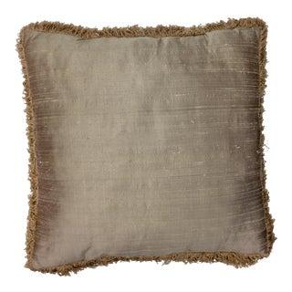 Thai Silk Fringe Throw Pillow For Sale