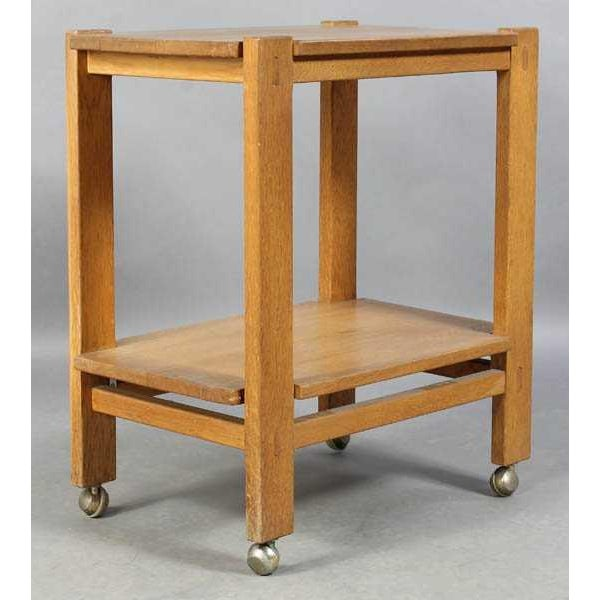 Charlotte Perriand Mid-Century Modern Oak Serving Cart For Sale In Los Angeles - Image 6 of 6