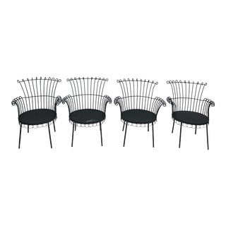 1960s Vintage Mathieu Mategot Cap d'Ail Design Armchairs- Set of 4 For Sale