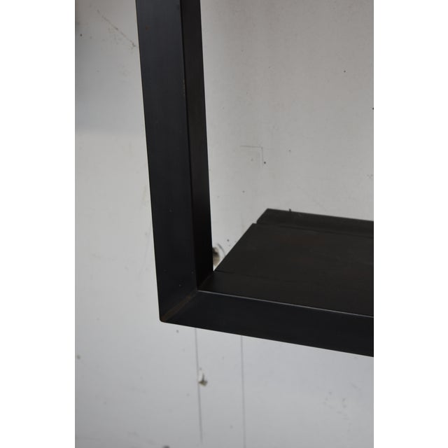 Industrial Blackened Steel Wall Frame For Sale - Image 3 of 4