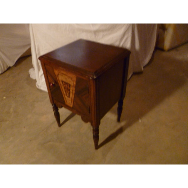 Late 19th Century 19th Century Italian Side Table With Storage Nightstand For Sale - Image 5 of 8