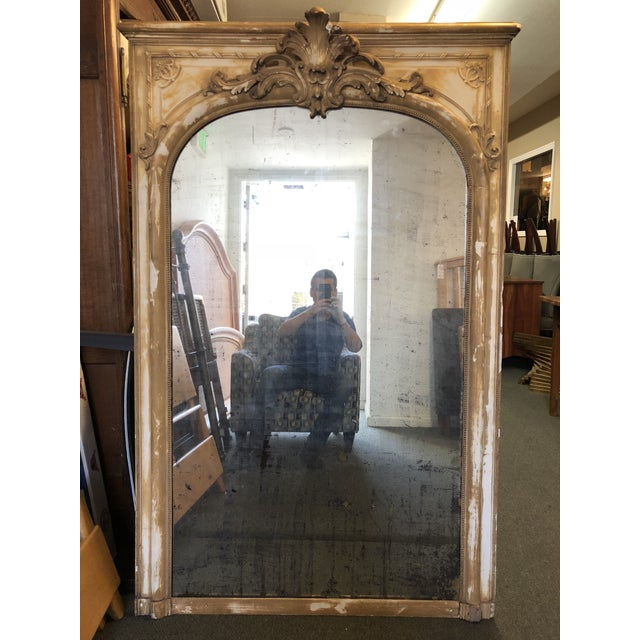 Antique French Wood & Plaster Mirror For Sale - Image 11 of 11