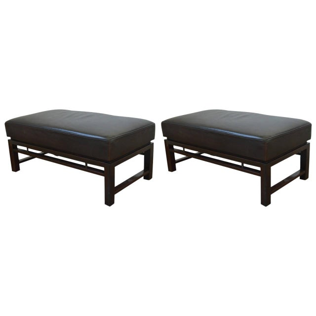 Mid-Century Modern Edward Wormley for Dunbar Benches - a Pair For Sale - Image 12 of 12