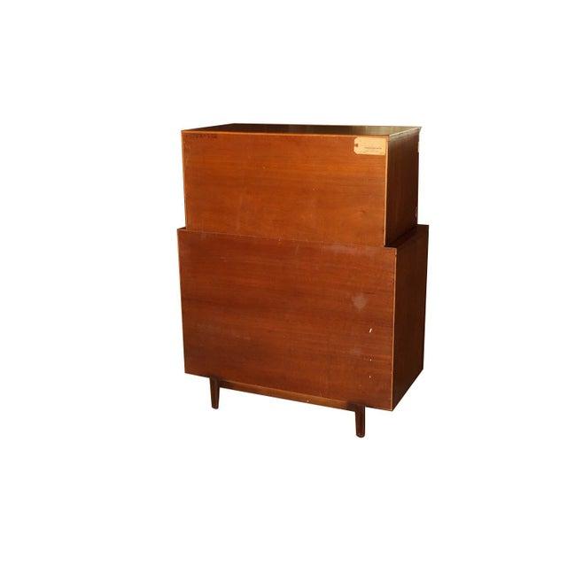 John Stuart Mid Century Highboy Walnut Dresser For Sale - Image 12 of 13