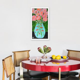 """Medium """"Flower Fish Bowl"""" Print by Jelly Chen, 13"""" X 23"""" Preview"""