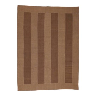 Modern Style Vintage Persian Kilim with Minimalist Appeal in Soft Neutral Colors