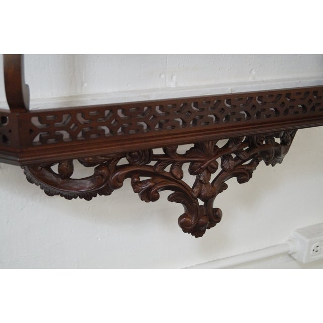 Quality Solid Mahogany French Style Hanging Shelf - Image 5 of 10