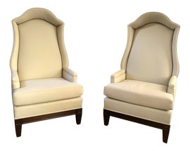Image of Leather Wingback Chairs