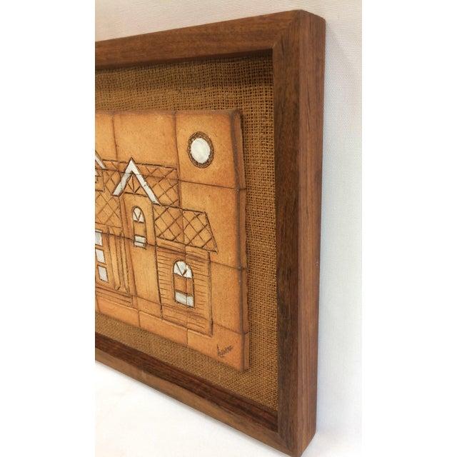 1970s Walnut Framed Art Tiles - Image 5 of 6
