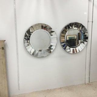 1980s Vintage Round Sunburst Shape Mirrors - a Pair Preview