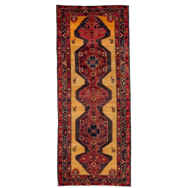 "Apadana - Vintage North West Persian Rug, 4'4"" X 10'8"" For Sale - Image 9 of 9"