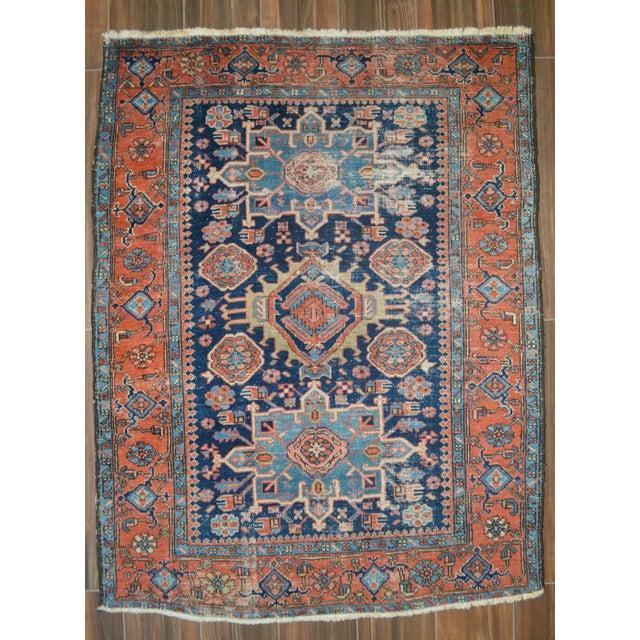 """Antique Persian Heriz Rug - 4'8"""" X 6'2"""" - Image 2 of 6"""