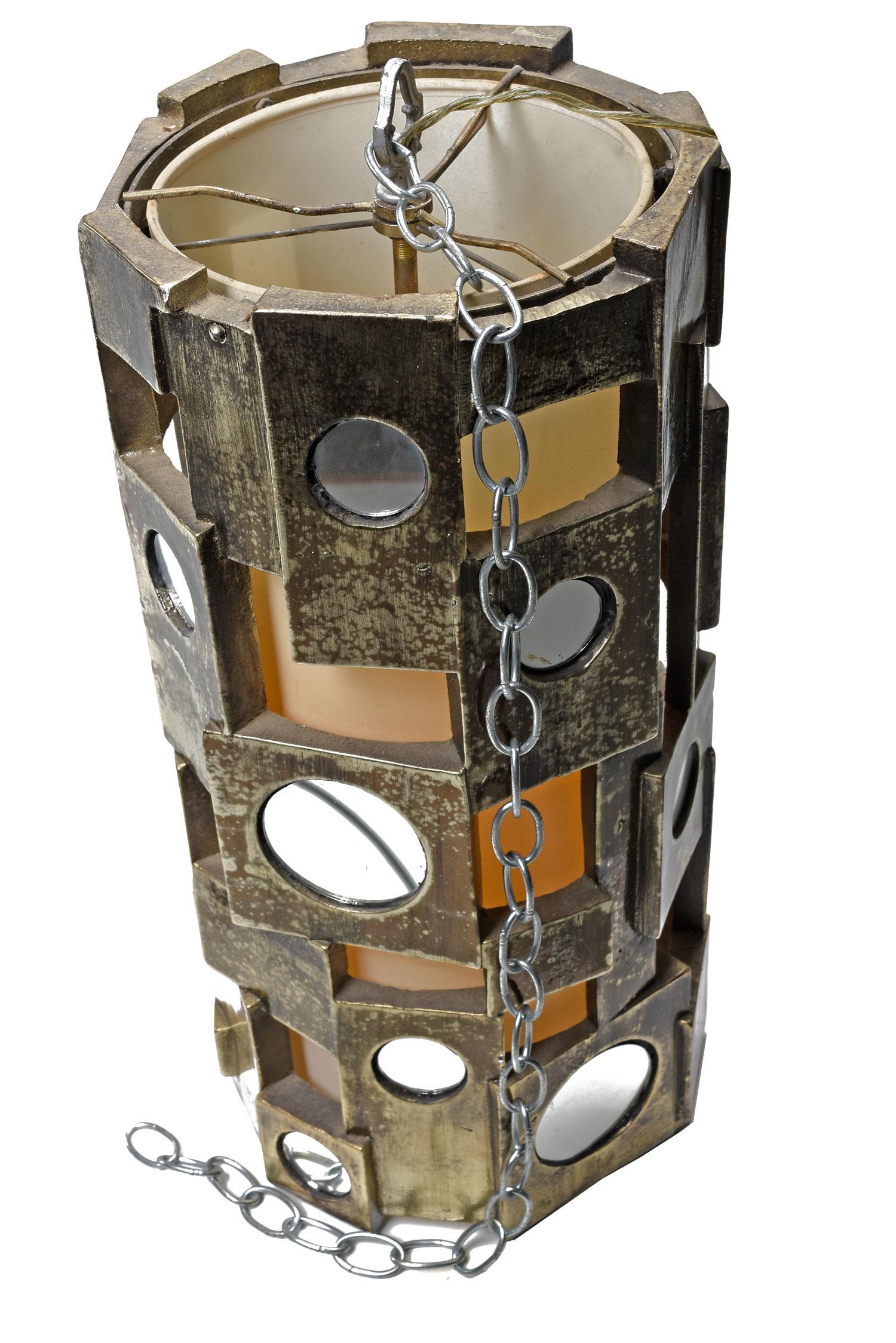 Brutalist Mid Century Swag Lamp   Image 4 Of 4