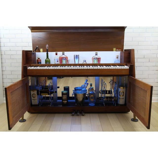 Mid-Century Modern Hidden Piano Bar With Liquor Wine Storage - Baldwin Acrosonic For Sale In New York - Image 6 of 12