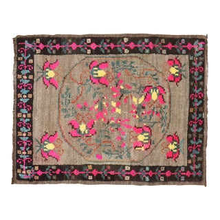 Color Pop Mid 20th Century Turkish Mat Rug, 2'1'' X 2'9'' For Sale