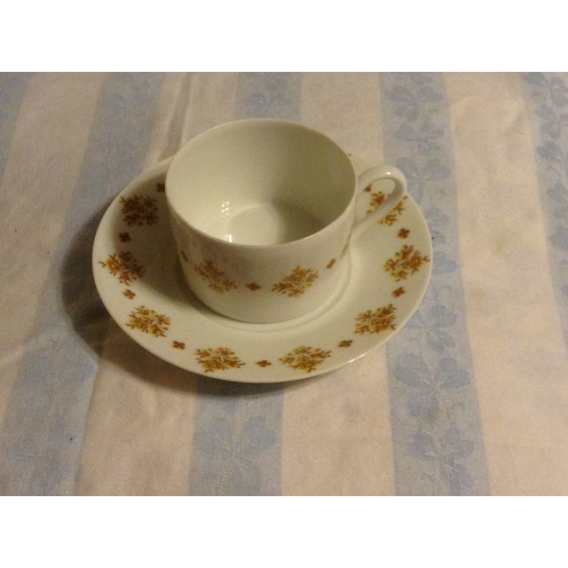 French Limoges Demitasse Cups & Saucers - Set of 6 For Sale - Image 3 of 7